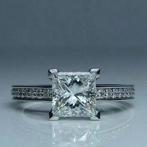 NWT S925 Sterling Silver Princess Cut Ring